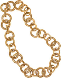 Chanel Gold Rope Chain Necklace