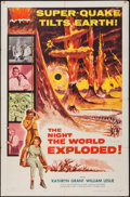 """Movie Posters:Science Fiction, The Night the World Exploded! (Columbia, 1957). One Sheet (27"""" X41""""). Science Fiction.. ..."""