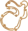 Luxury Accessories:Accessories, Chanel Gold Chain Necklace with Chanel Lion Medallions. ...