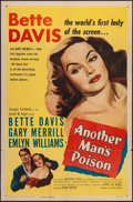 """Movie Posters:Crime, Another Man's Poison (United Artists, 1952). One Sheet (27"""" X 41"""").Crime.. ..."""