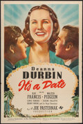 "Movie Posters:Musical, It's a Date (Universal, 1940). One Sheet (27"" X 41"") Style D.Musical.. ..."