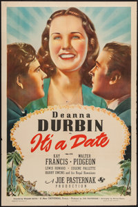 "It's a Date (Universal, 1940). One Sheet (27"" X 41"") Style D. Musical"