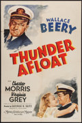 "Movie Posters:War, Thunder Afloat (MGM, 1939). One Sheet (27"" X 41"") Style C. War....."