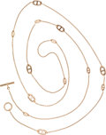Luxury Accessories:Accessories, Hermes 18K Yellow Gold Chaine d'Ancre Long Necklace. ...