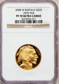 Modern Bullion Coins, 2008-W $25 Gold Eagle PR70 Ultra Cameo NGC. Ex: .9999 Fine. NGCCensus: (0). PCGS Population (369). (#393074)...