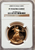 Modern Bullion Coins: , 2000-W G$50 One-Ounce Gold Eagle PR70 Ultra Cameo NGC. NGC Census: (520). PCGS Population (112). Numismedia Wsl. Price for...