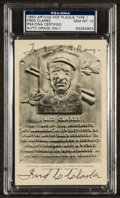 Baseball Collectibles:Others, Fred Clarke Signed Black and White Hall of Fame Plaque Postcard,Gem Mint 10....