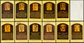 Baseball Collectibles:Others, Baseball Greats Signed Hall of Fame Plaque Postcards Lot of 12 - With Rare Pie Traynor.. ...