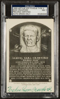 Baseball Collectibles:Others, Sam Crawford Artvue Black and White Hall of Fame Plaque PostcardPSA NM 7....