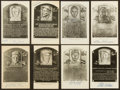 Baseball Collectibles:Others, Baseball Greats Signed Hall of Fame Plaque Black and White Postcards Lot of 8....