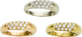 Estate Jewelry:Rings, Diamond, Gold Rings, Chaumet. ... (Total: 3 Items)