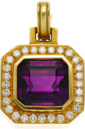 Estate Jewelry:Pendants and Lockets, Amethyst, Diamond, Gold Pendant, Kieselstein-Cord. ...