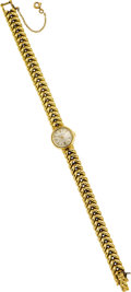 Estate Jewelry:Watches, Jaeger LeCoultre Lady's Gold Wristwatch. ...