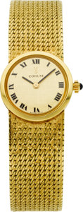 Estate Jewelry:Watches, Corum Lady's Gold Integral Bracelet Wristwatch. ...