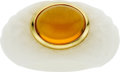 Estate Jewelry:Rings, Citrine, Porcelain, Gold Ring. ...