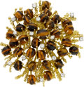 Estate Jewelry:Brooches - Pins, Tiger's-Eye Quartz, Diamond, Gold Brooch. ...