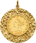 Estate Jewelry:Pendants and Lockets, U.S. $10 Gold Coin, Gold Pendant. ...
