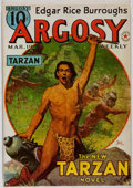 Books:Science Fiction & Fantasy, Edgar Rice Burroughs. The Red Star of Tarzan. Burroughs Bulletin, 1974. Reprinted from Argosy. Some modest b...