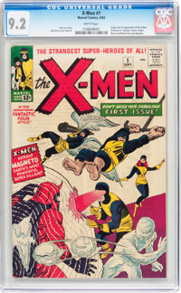 X-Men #1 (Marvel, 1963) CGC NM- 9.2 White pages