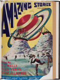 Pulps:Science Fiction, Amazing Stories V1#1 Bound Volume (Ziff-Davis, 1926)....
