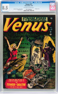 Golden Age (1938-1955):Horror, Venus #17 (Timely, 1951) CGC VF+ 8.5 Off-white to white pages....