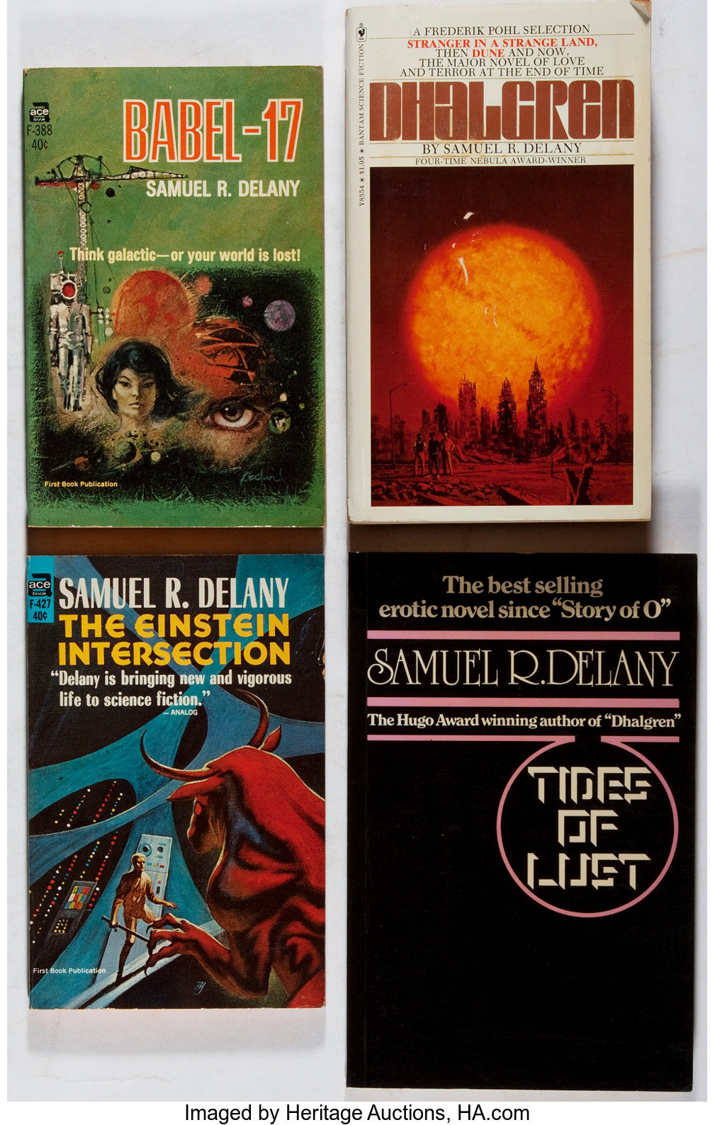 Samuel R  Delany  Group of Four First Printing Books In