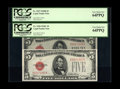 Small Size:Legal Tender Notes, Fr. 1527/Fr. 1528 $5 1928B Mule/1928C Legal Tender Notes. Changeover Pair. PCGS Very Choice New 64PPQ.. This is one of only ... (Total: 2 notes)