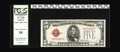 Small Size:Legal Tender Notes, Fr. 1530 $5 1928E Mule Legal Tender Note. PCGS Choice About New 58.
