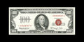 Small Size:Legal Tender Notes, Fr. 1550* $100 1966 Legal Tender Note. Choice About Uncirculated.. Embossing is noticed on this star that has a trace of a c...