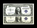 Small Size:Silver Certificates, Fr. 1607, Fr. 1613N $1 1935, 1935D(N) Silver Certificates. Matched Serial Number 36 Very Choice Crisp Uncirculated.. Both no... (Total: 2 notes)