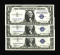 Small Size:Silver Certificates, Fr. 1607 $1 1935 Silver Certificates. Matched Serial Number 88 Three Examples Very Choice Crisp Uncirculated.. Besides all n... (Total: 3 notes)