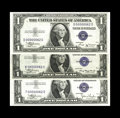 Small Size:Silver Certificates, Fr. 1608 $1 1935A Silver Certificate. Gem Crisp Uncirculated,. Fr. 1611 $1 1935 Silver Certificate. Choice Crisp Uncircula... (Total: 3 notes)