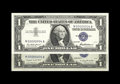 Small Size:Silver Certificates, Fr. 1619 and 1620 $1 1957 and 1957A Silver Certificates. Gem Crisp Uncirculated.. A nicely matched single digit Serial pair....