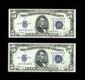 Small Size:Silver Certificates, Fr. 1654*/Fr. 1653* $5 1934D/1934C Silver Certificates. Reverse Changeover Pair. Choice Crisp Uncirculated... Last appearing...