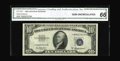 Small Size:Silver Certificates, Fr. 1707* $10 1953A Silver Certificate. CGA Gem Uncirculated 66.. The pack freshness retained by this blast white specimen i...