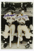 """Autographs:Photos, Joe DiMaggio and Mickey Mantle Signed Photograph. A black and white8x10"""" photograph graced with the signatures of two of t..."""