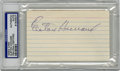 Autographs:Index Cards, Elston Howard Signed Index Card, PSA Authentic. Long-time Yankee legend and the first man to break the team's color barrier,...