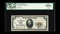 Fr. 1870-E $20 1929 Federal Reserve Bank Note. Gem Crisp Uncirculated. A beautiful note which was likely a presentation...