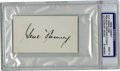 Boxing Collectibles:Autographs, Gene Tunney Cut Signature PSA Mint 9. Offered here is a marvelouslybold fountain ink signature of Gene Tunney, whose undef...