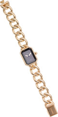 Luxury Accessories:Accessories, Chanel 18K Yellow Gold Premiere Watch. ...
