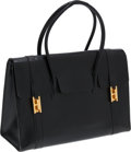 Luxury Accessories:Bags, Hermes Black Calf Box Leather 30cm Drag Bag with Gold Hardware. ...