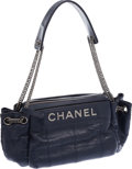 Luxury Accessories:Bags, Chanel Navy Blue Lambskin Leather Accordion Shoulder Bag. ...