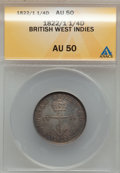British West Indies, British West Indies: George IV 1/4 Dollar 1822/1,...