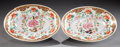 Ceramics & Porcelain, British:Antique  (Pre 1900), A PAIR OF SPODE PORCELAIN OVAL DISHES. Spode Pottery Works, Stoke-on-Trent, Staffordshire, England, circa 1820. Marks: SPO... (Total: 2 Items)