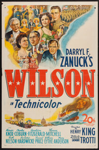 "Wilson (20th Century Fox, 1944). One Sheet (27"" X 41""). Drama"