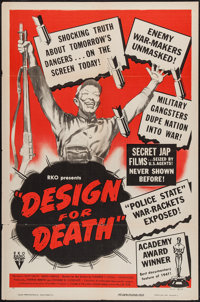 "Design for Death (RKO, 1948). One Sheet (27"" X 41""). Documentary"