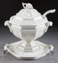 Ceramics & Porcelain, British:Antique  (Pre 1900), A JACOB FURNIVAL & CO. IRONSTONE COVERED SOUP TUREEN WITH STAND AND LADLE. Jacob Furnival & Co., Cobridge, Staffordshire, En...