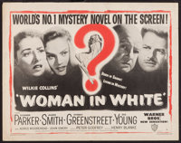 """The Woman in White (Warner Brothers, 1948). Half Sheet (22"""" X 28"""") Style A. Mystery"""