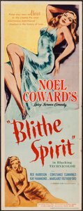 "Movie Posters:Comedy, Blithe Spirit (United Artists, 1945). Insert (14"" X 36""). Comedy....."