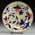 Ceramics & Porcelain, AN ENGLISH PORCELAIN PLATE. Attributed to Chamberlain's Worcester Porcelain Factory, Worcester, England, circa 1805-1810. Ma...